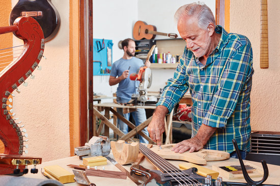 Senior as Experienced Luthier