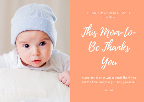 Photo Baby Shower Thank You Card