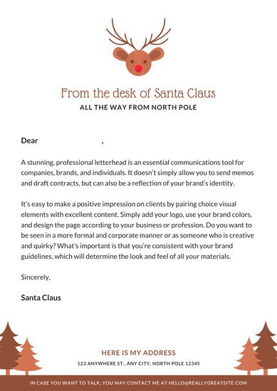 Brown Reindeer Icon Letter from Santa