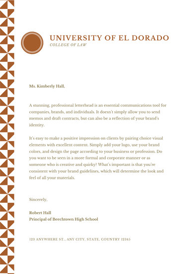 Brown Pattern Welcome Letter to Parents