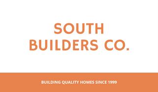 Orange Gridlines Contractor Business Card