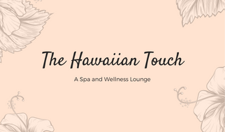 Peach Hibiscus Massage Therapist Business Card