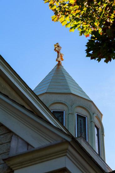Apostolic Armenian Church Cross Sky