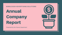 Blue and Pink Financial Professional Presentation