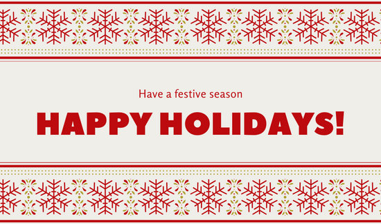 Red and White Snowflakes Christmas Holiday Greeting Tag