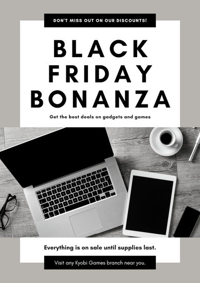 Grey Black Friday Discount Poster