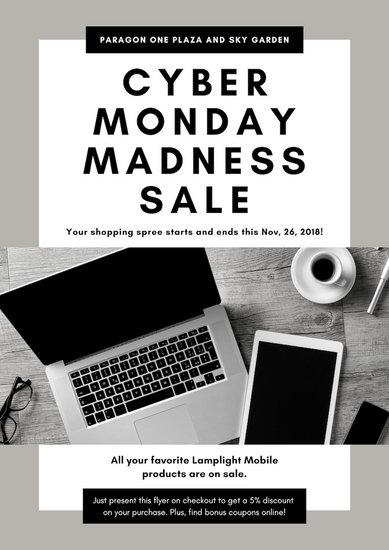 Grey Black Friday Sale Flyer
