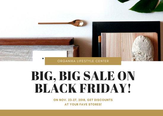 Gold Black Friday Sale Postcard