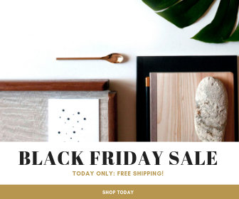 Gold Black Friday Sale Large Rectangle Banner