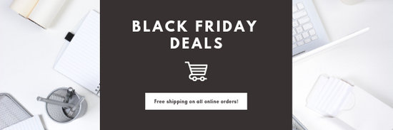Brown Black Friday Sale Announcement Email Header