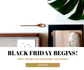 Gold Black Friday Discount Large Rectangle Banner