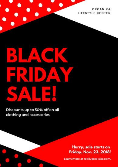Modern Black Friday Sale Poster