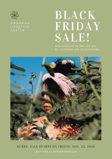 Green Black Friday Sale Poster