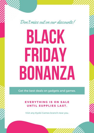 Colorful Black Friday Discount Poster