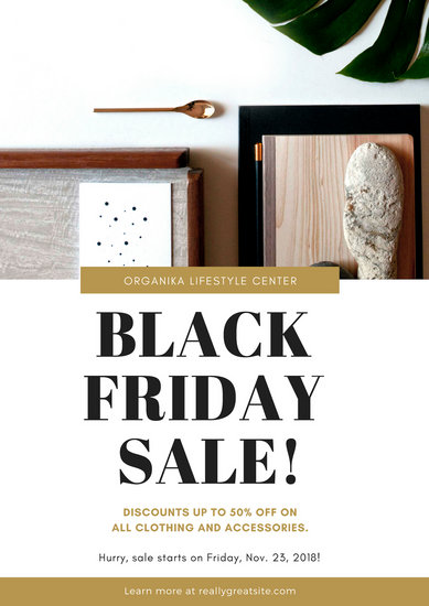 Black Friday Clothing Sale Poster