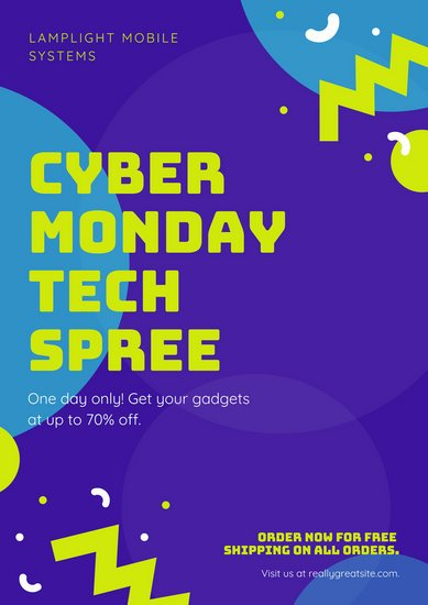Purple Cyber Monday Sale Poster