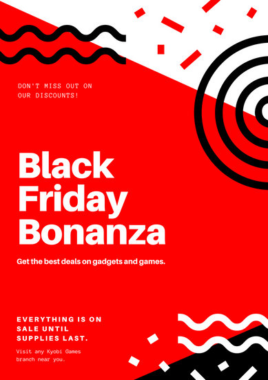 Red Black Friday Discount Poster