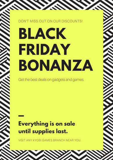 Black and Green Black Friday Tech Poster