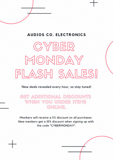 Pink Cyber Monday Sale Announcements Flyer