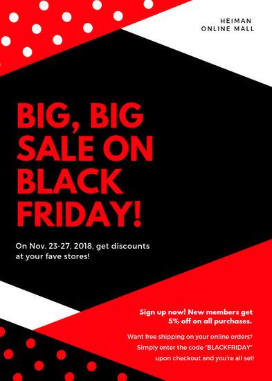 Red Black Friday Sale Flyer