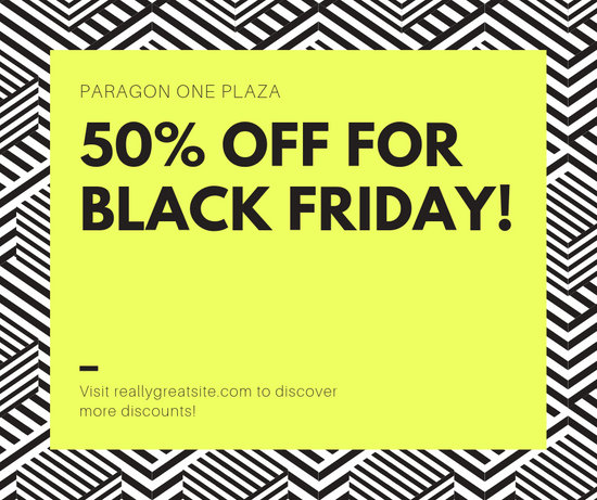 Yellow Black Friday Discount Facebook Post