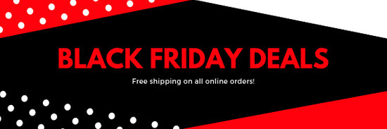 Red Black Friday Sale Email Header