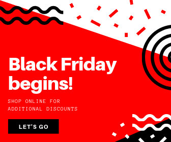 Red Black Friday Discount Large Rectangle Ad
