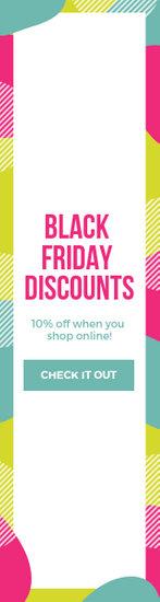 Colorful Black Friday Discount Wide Skyscraper Ad