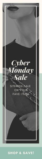 Cream and Mint Cyber Monday Coupons Wide Skyscraper