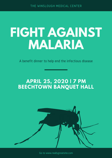 Green Mosquito World Malaria Day Poster