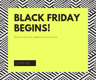 Yellow Black Friday Discount Large Rectangle Banner