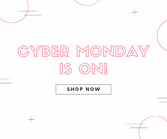 Pink Cyber Monday Sale Announcement Large Rectangle Banner