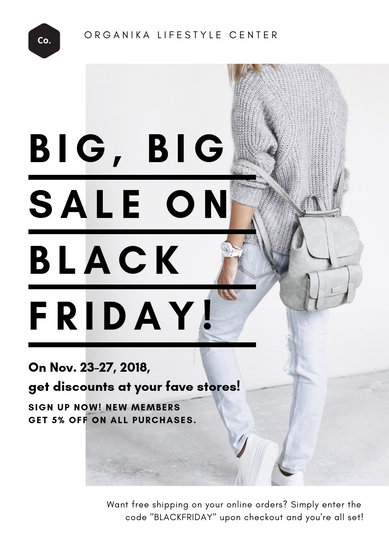 Black Friday Clothing Sale Flyer