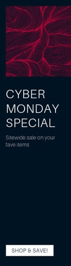 Red Cyber Monday Coupon Wide Skyscraper