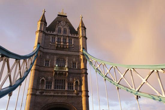 London Tower Bridge Closeup