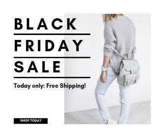 Black Friday Clothing Sale Large Rectangle Banner