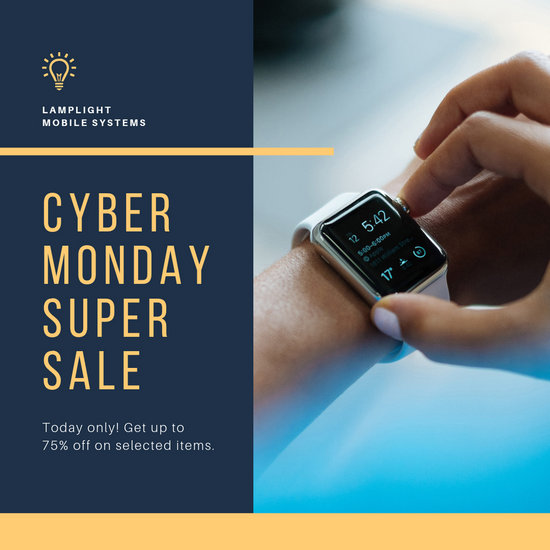 Blue and Yellow Cyber Monday Tech Instagram Post