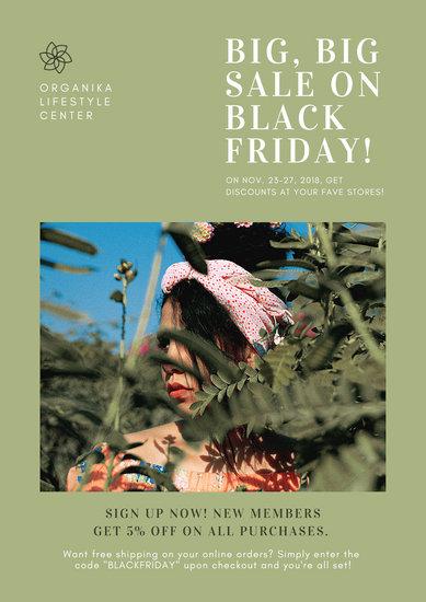 Green Black Friday Sale Flyer