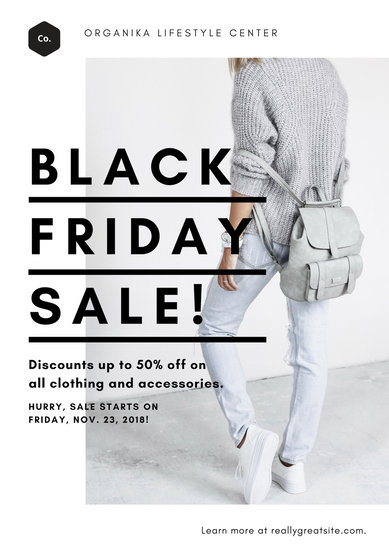 White Black Friday Clothing Sale Poster