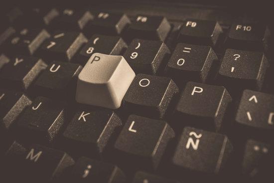 Random keyboard close-up