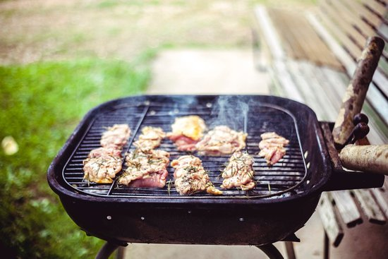 Grilled Pork on Grill