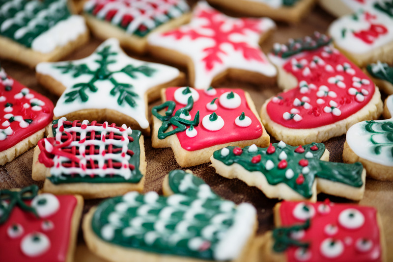 Bake Christmas Cookies with icing