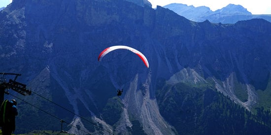 Parapentes Launched from a High Alpine Meadow