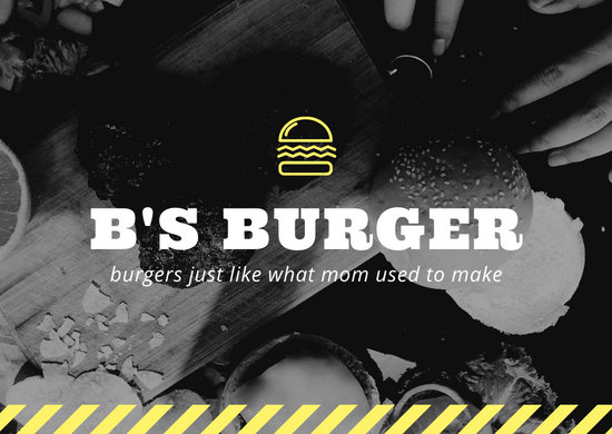 Burger Photo and Chevron Line Picture Postcard