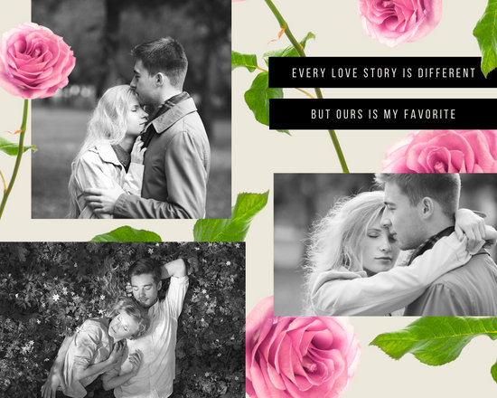 Roses Love Photo Collage