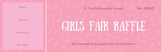 Pink Pattern Raffle Ticket