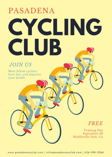 Illustrated Cycling Flyer