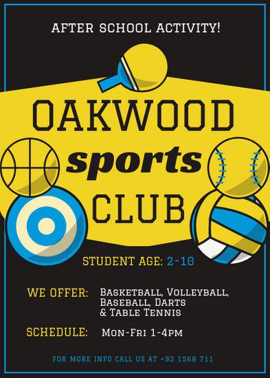 Sports Club Flyer