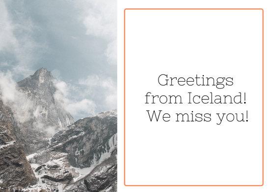 Postal Border Greeting Card