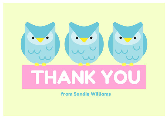 Illustrated Baby Shower Thank You Card